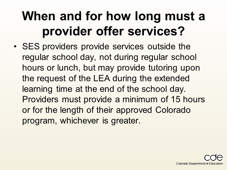 When and for how long must a provider offer services