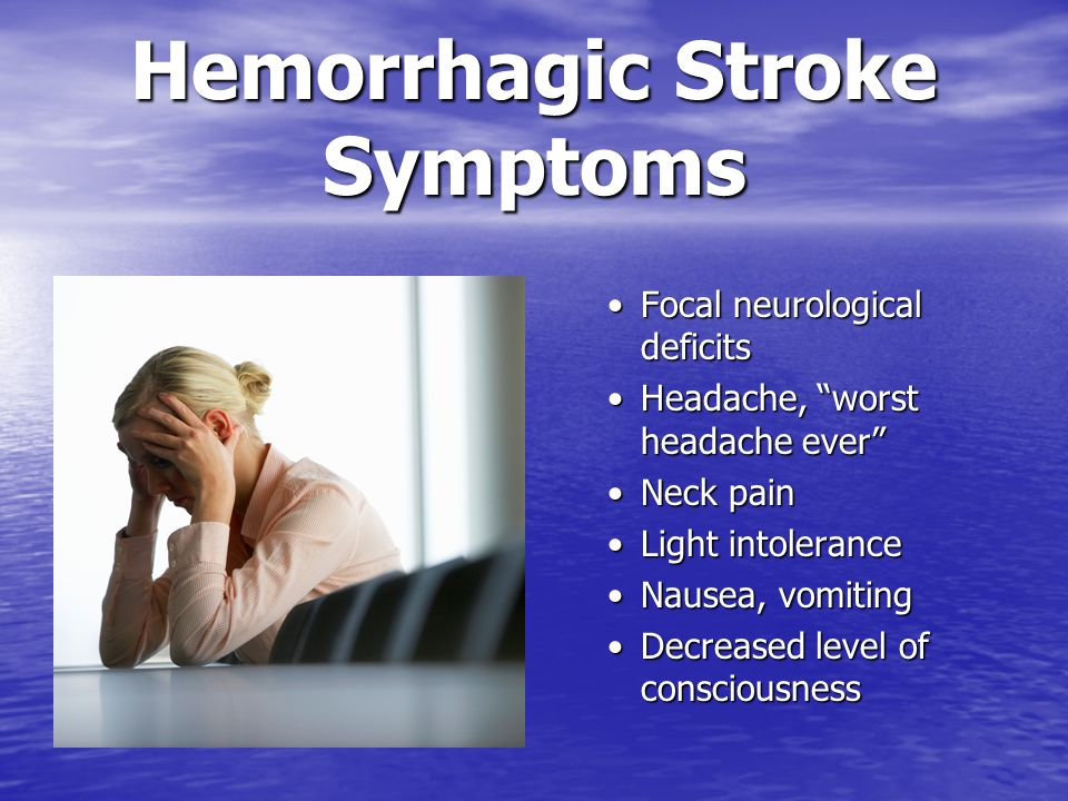 Hemorrhagic Stroke Symptoms