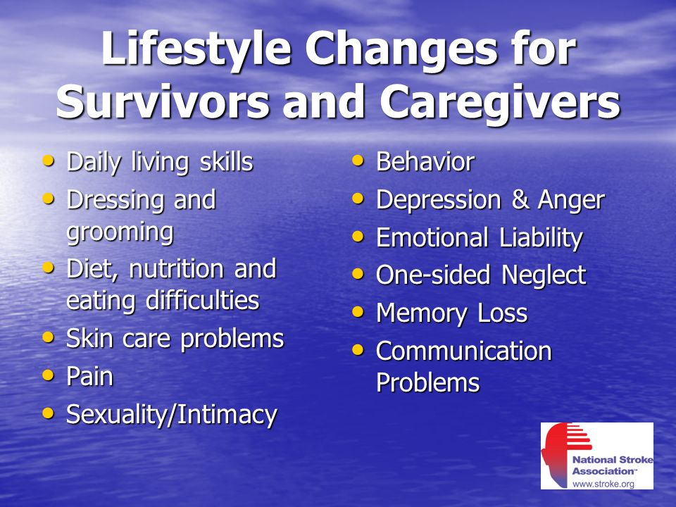 Lifestyle Changes for Survivors and Caregivers