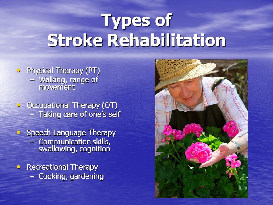 Types of Stroke Rehabilitation