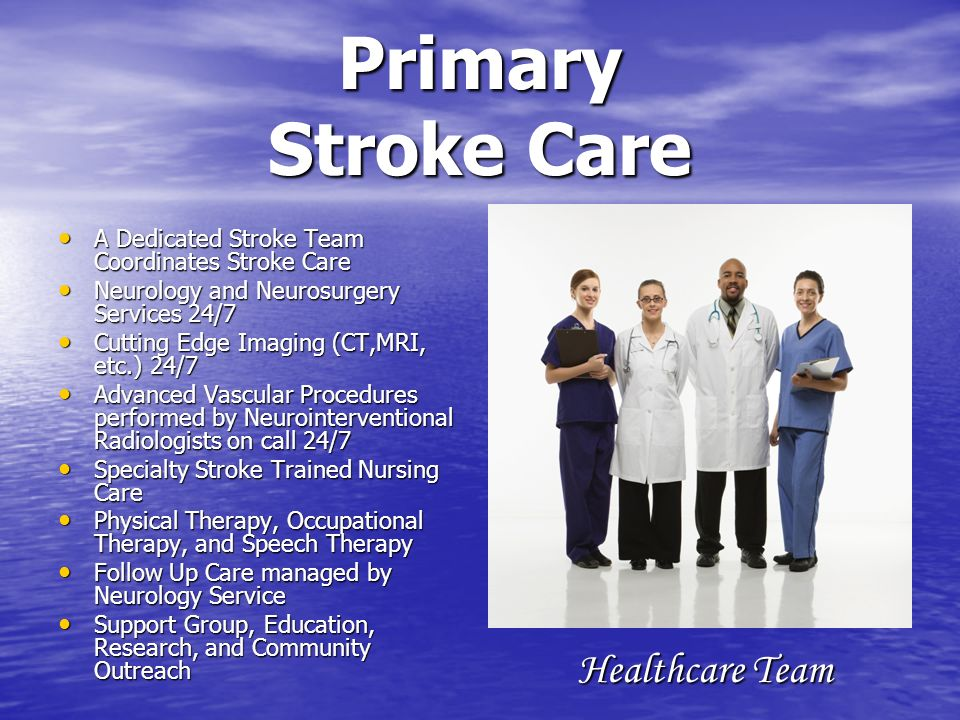 Primary Stroke Care Healthcare Team