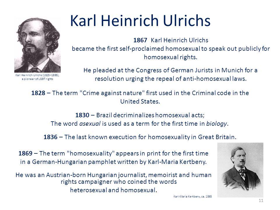 Karl Heinrich Ulrichs 1867 Karl Heinrich Ulrichs