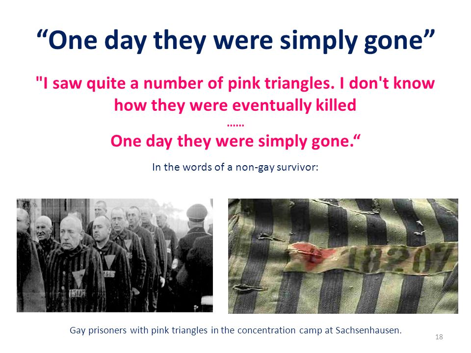 One day they were simply gone