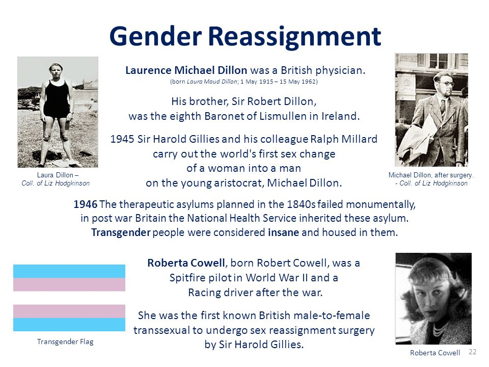Gender Reassignment Laurence Michael Dillon was a British physician.