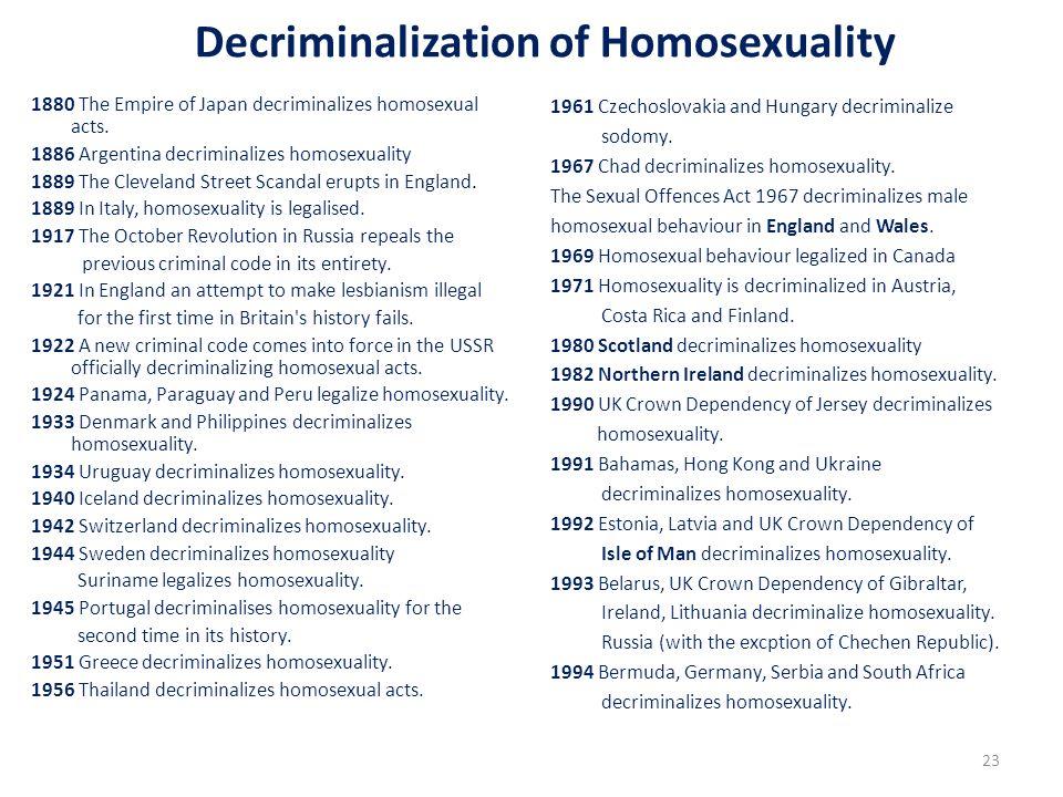 Decriminalization of Homosexuality
