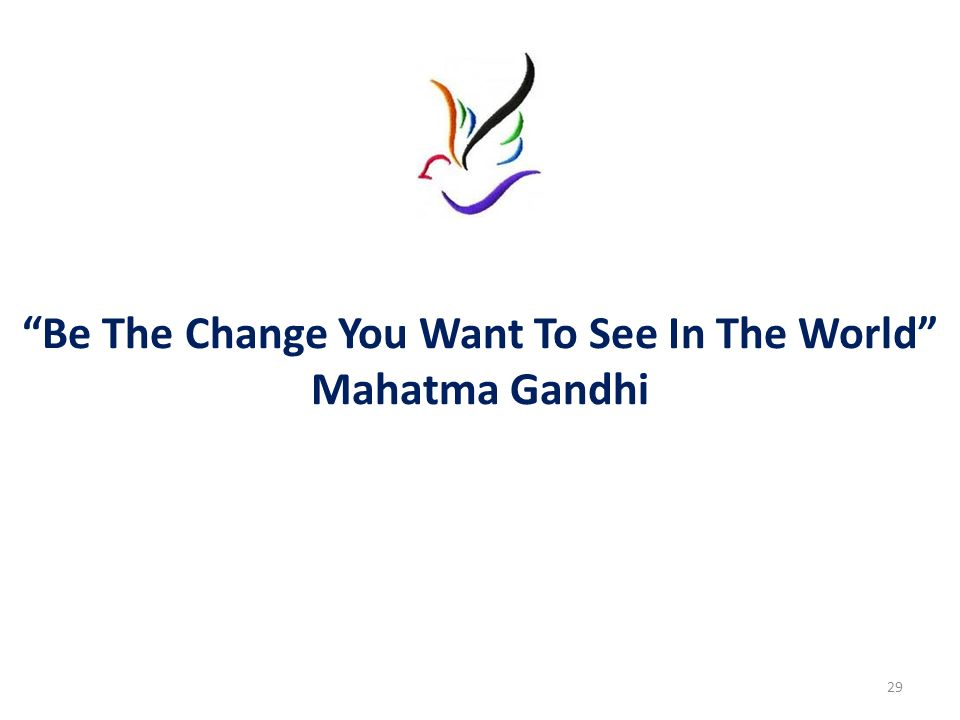 Be The Change You Want To See In The World Mahatma Gandhi