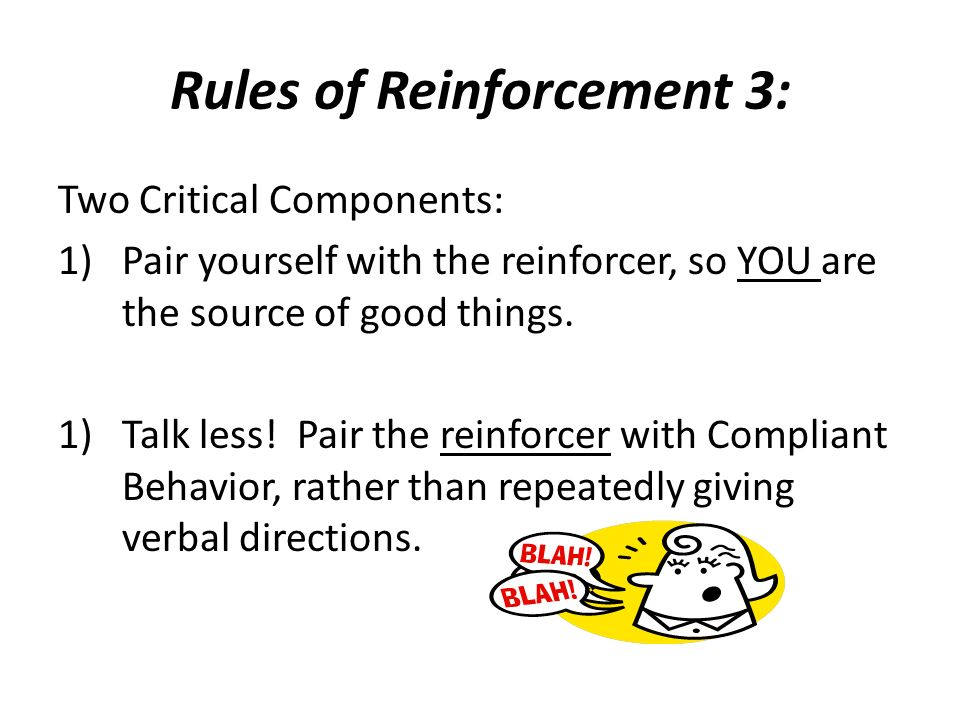 Rules of Reinforcement 3: