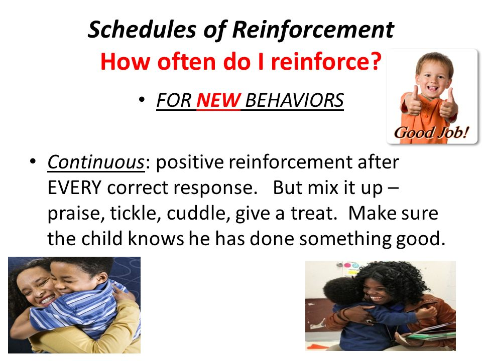 Schedules of Reinforcement How often do I reinforce
