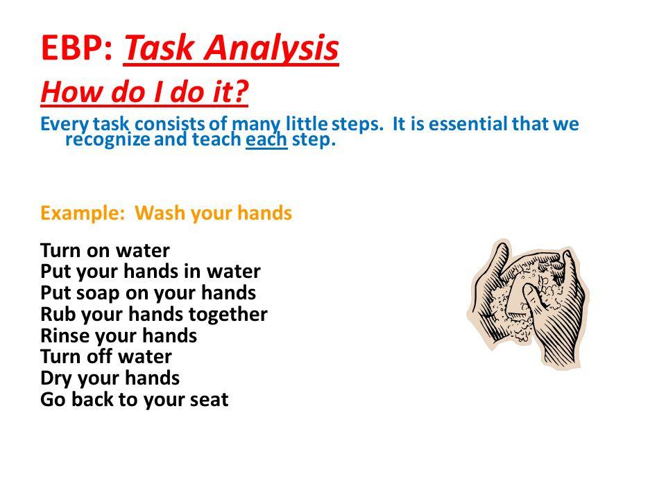 EBP: Task Analysis How do I do it