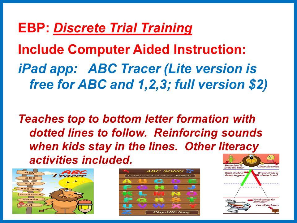 EBP: Discrete Trial Training