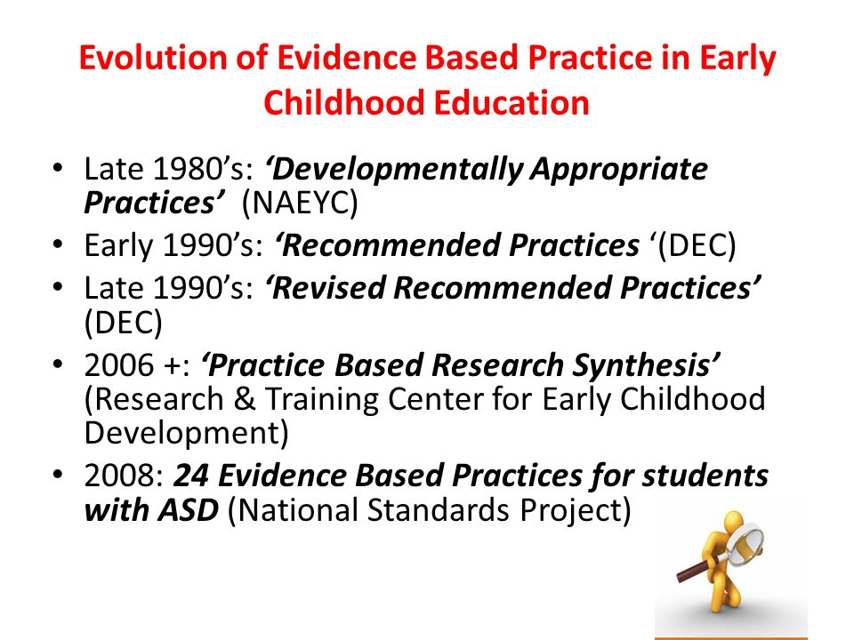 Evolution of Evidence Based Practice in Early Childhood Education