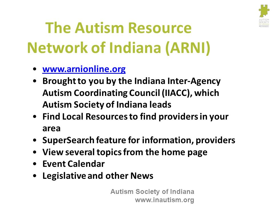 The Autism Resource Network of Indiana (ARNI)