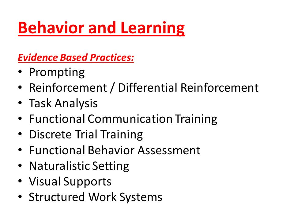 Behavior and Learning Prompting
