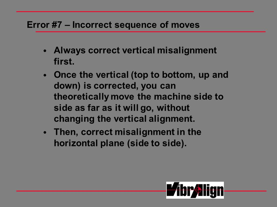 Error #7 – Incorrect sequence of moves