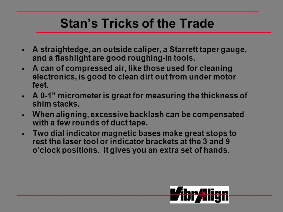 Stan's Tricks of the Trade
