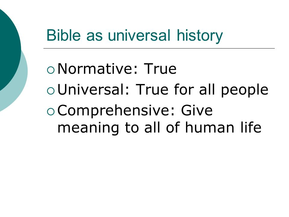 Bible as universal history