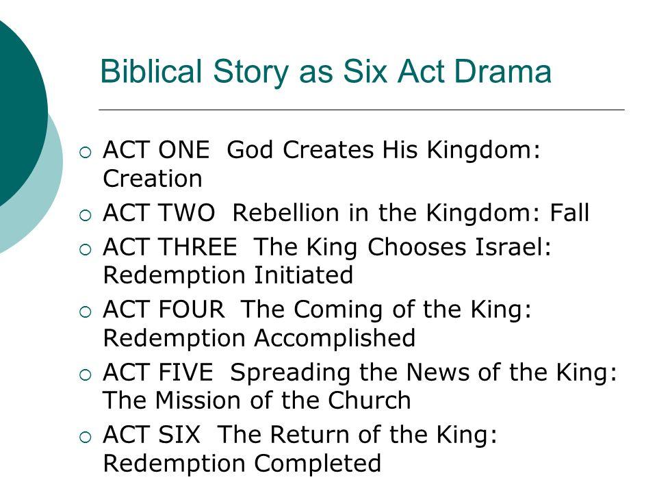 Biblical Story as Six Act Drama