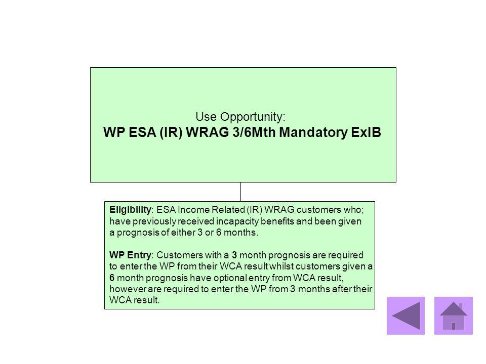 WP ESA (IR) WRAG 3/6Mth Mandatory ExIB