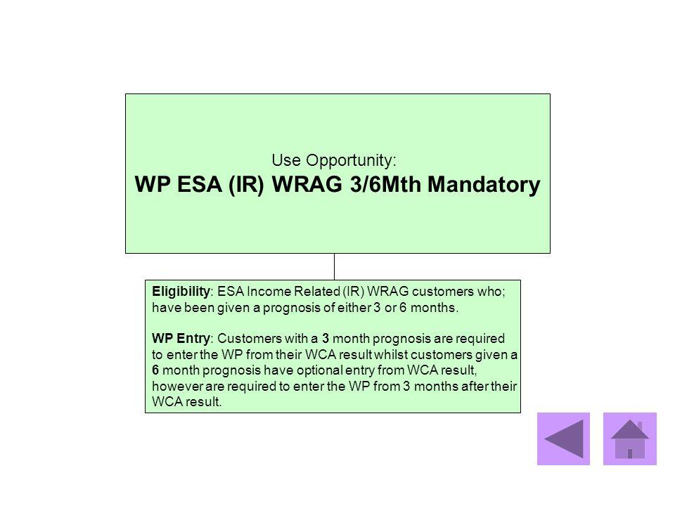 WP ESA (IR) WRAG 3/6Mth Mandatory