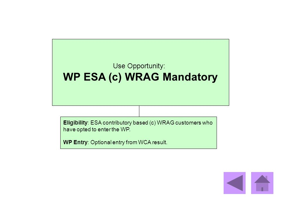 WP ESA (c) WRAG Mandatory
