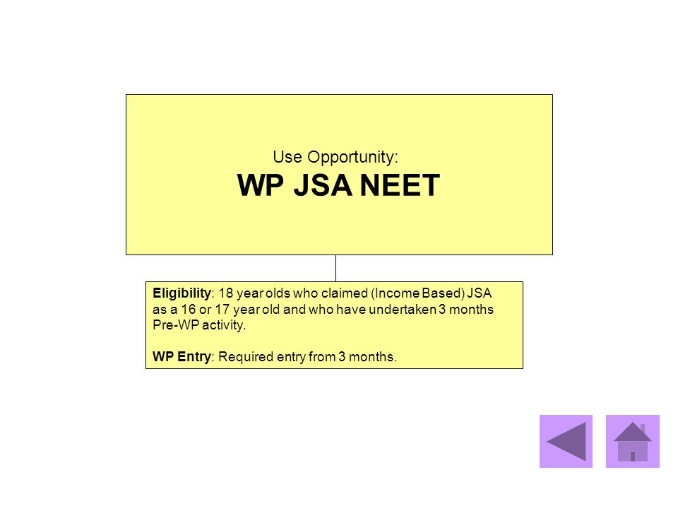 WP JSA NEET Use Opportunity: