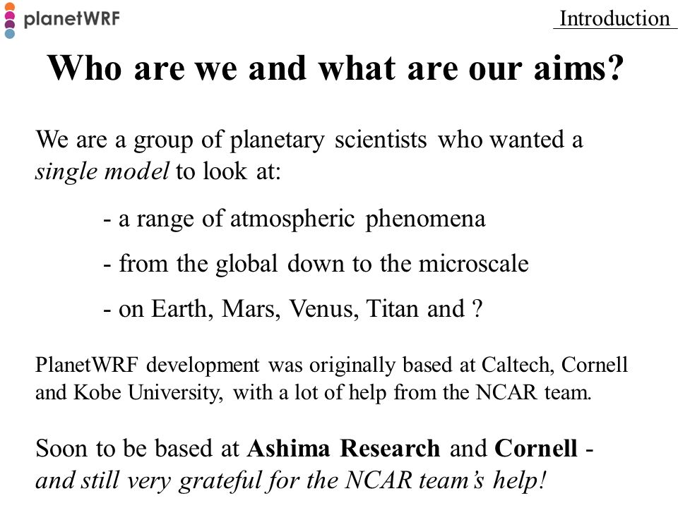 Who are we and what are our aims