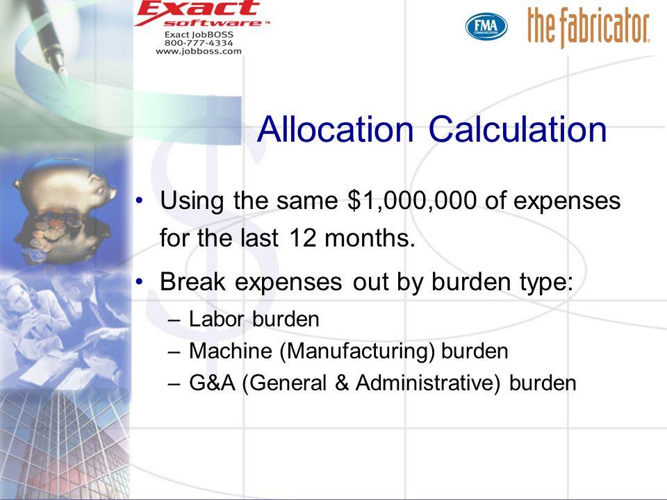 Allocation Calculation