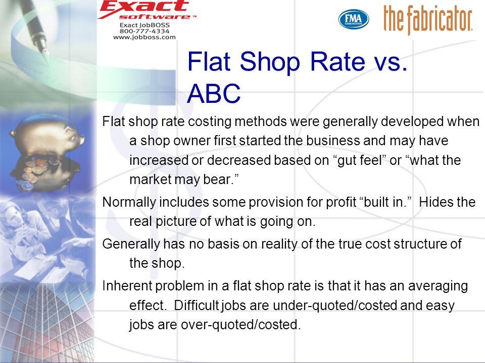 Flat Shop Rate vs. ABC