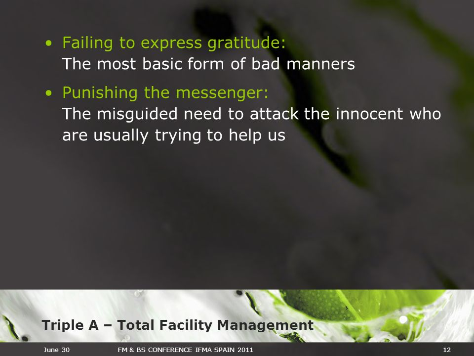 Failing to express gratitude: The most basic form of bad manners