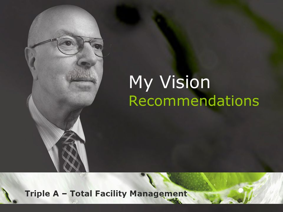 My Vision Recommendations