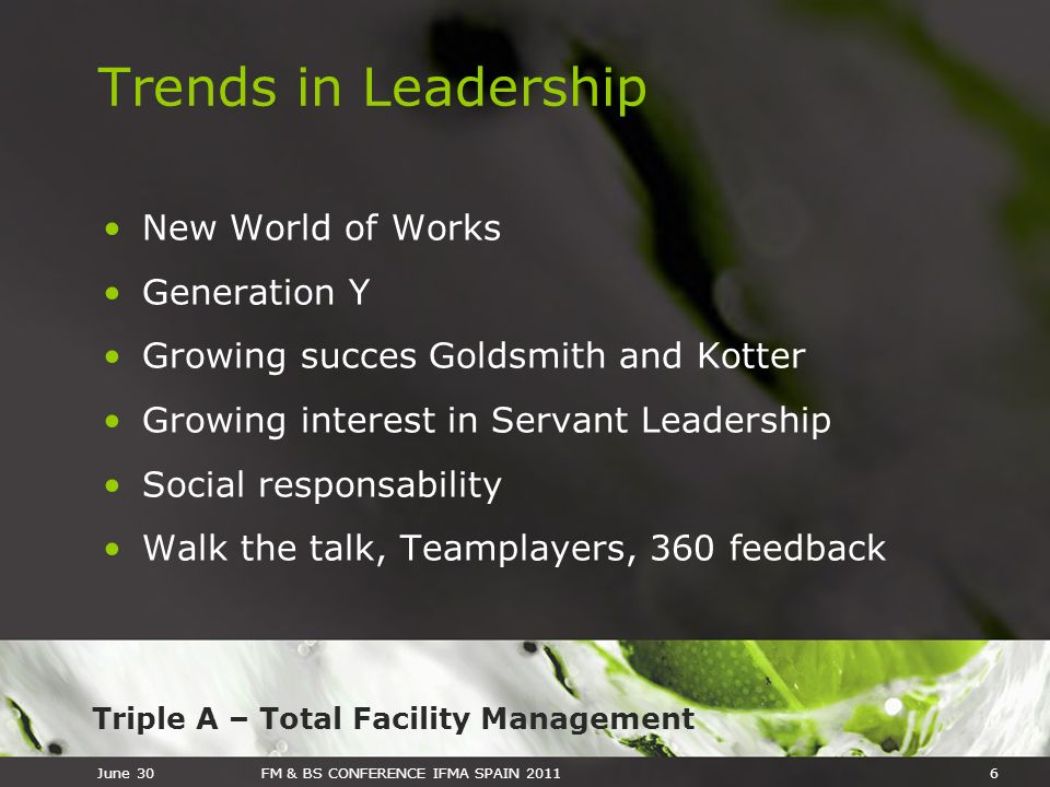 Trends in Leadership New World of Works Generation Y
