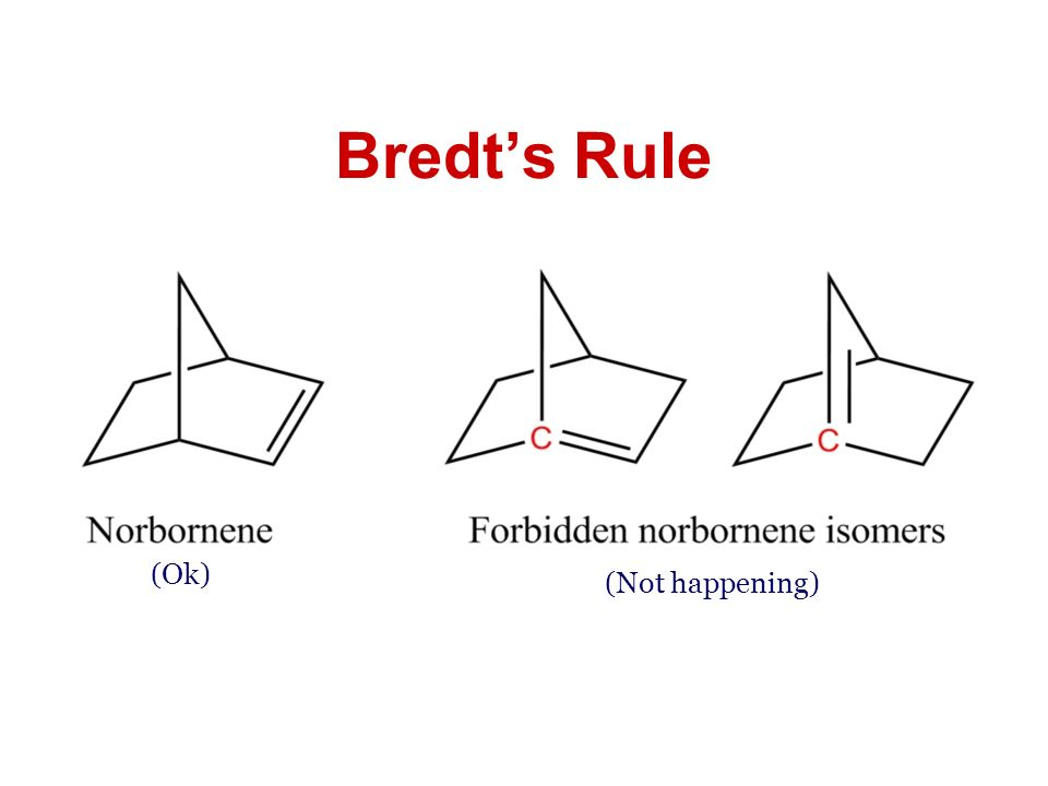 Bredt's Rule (Ok) (Not happening)