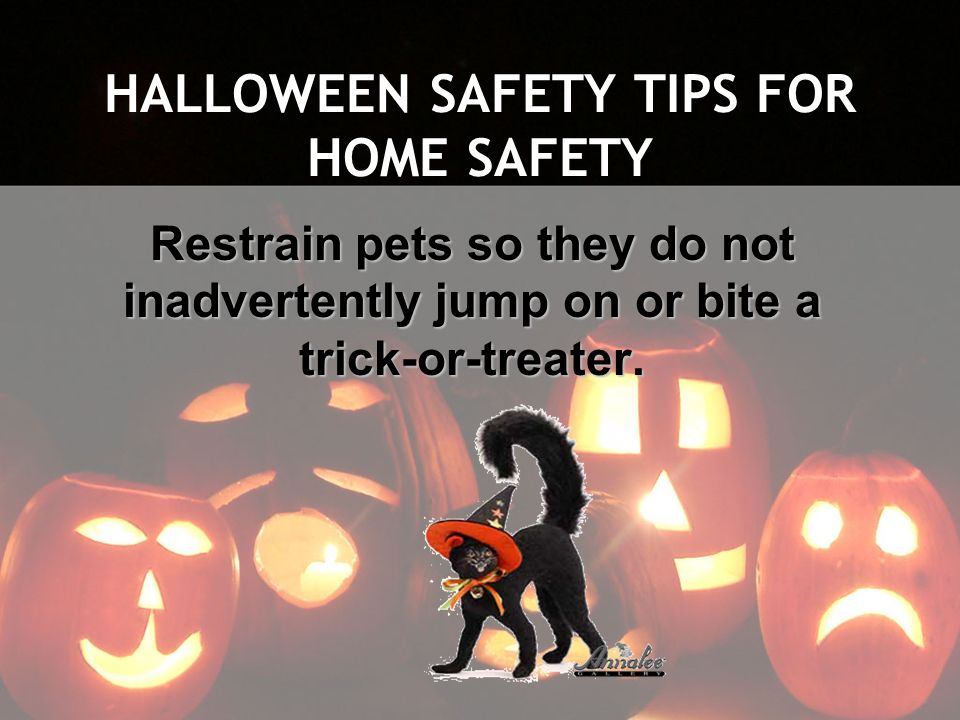 HALLOWEEN SAFETY TIPS FOR HOME SAFETY