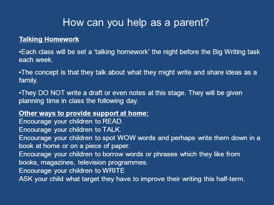 How can you help as a parent