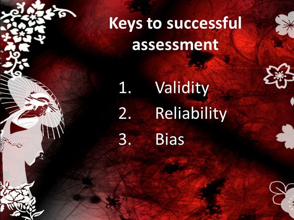 Keys to successful assessment