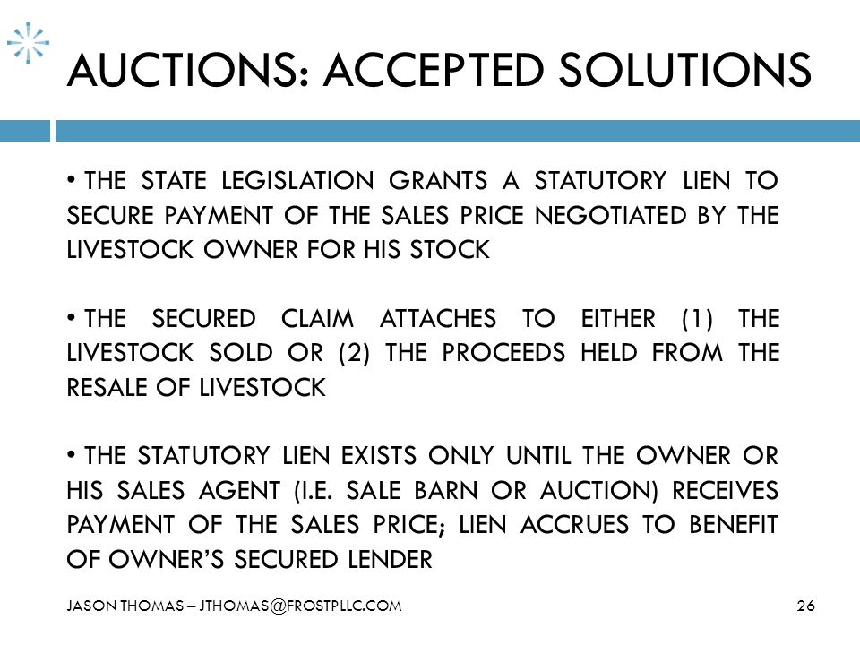 AUCTIONS: ACCEPTED SOLUTIONS