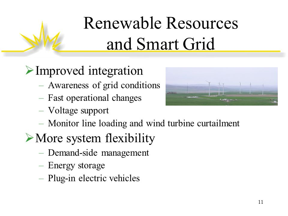Renewable Resources and Smart Grid
