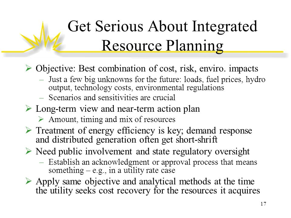 Get Serious About Integrated Resource Planning