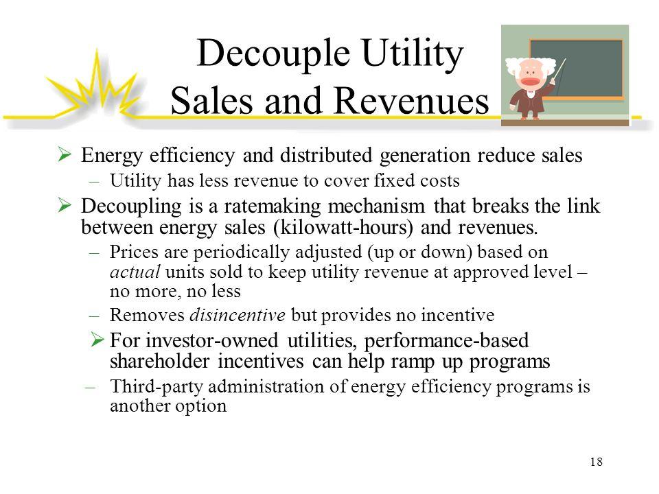 Decouple Utility Sales and Revenues