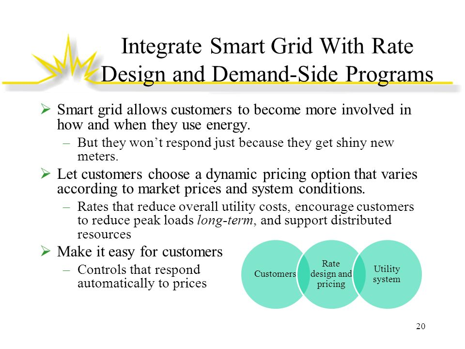 Integrate Smart Grid With Rate Design and Demand-Side Programs