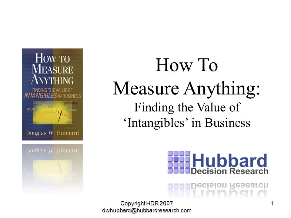 How To Measure Anything:
