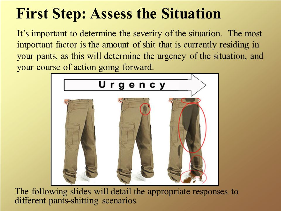 First Step: Assess the Situation
