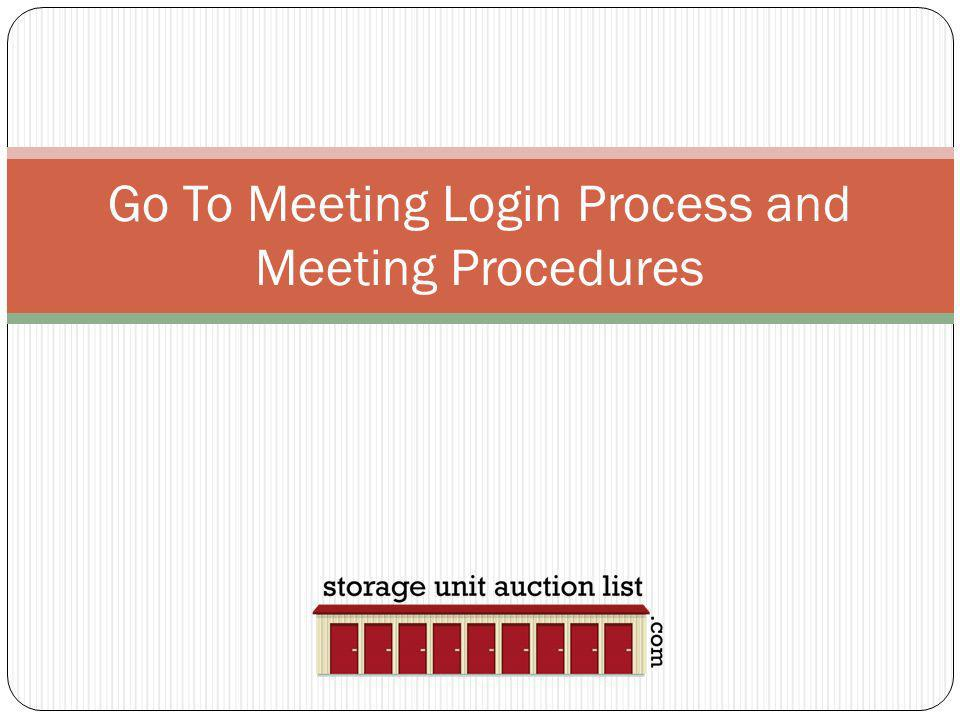 Go To Meeting Login Process and Meeting Procedures