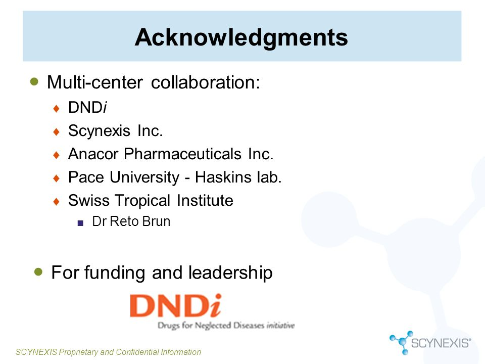 Acknowledgments Multi-center collaboration: For funding and leadership