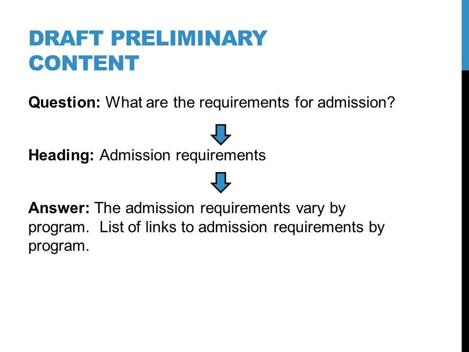 Define content requirements