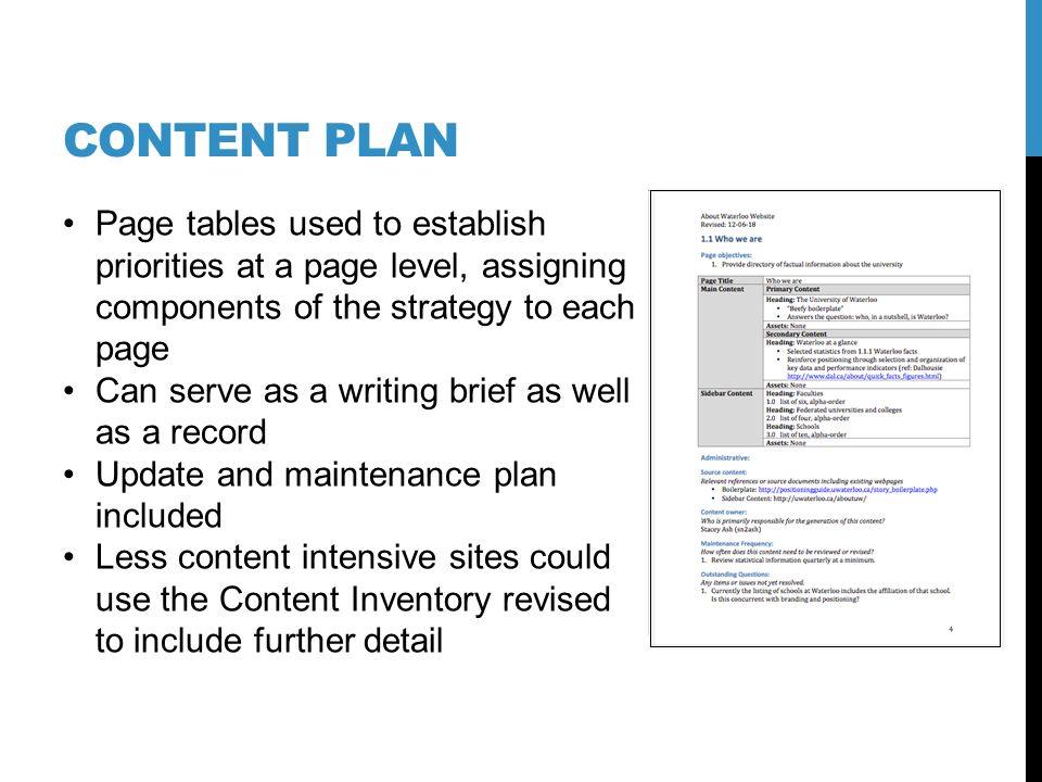 Draft preliminary content