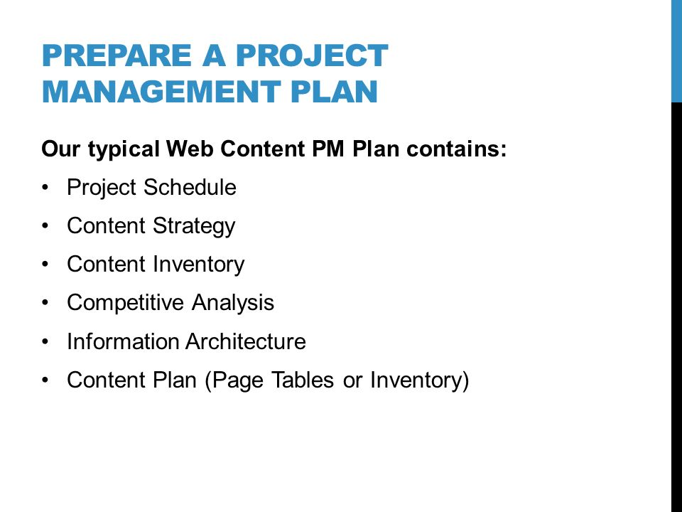 Prepare website content