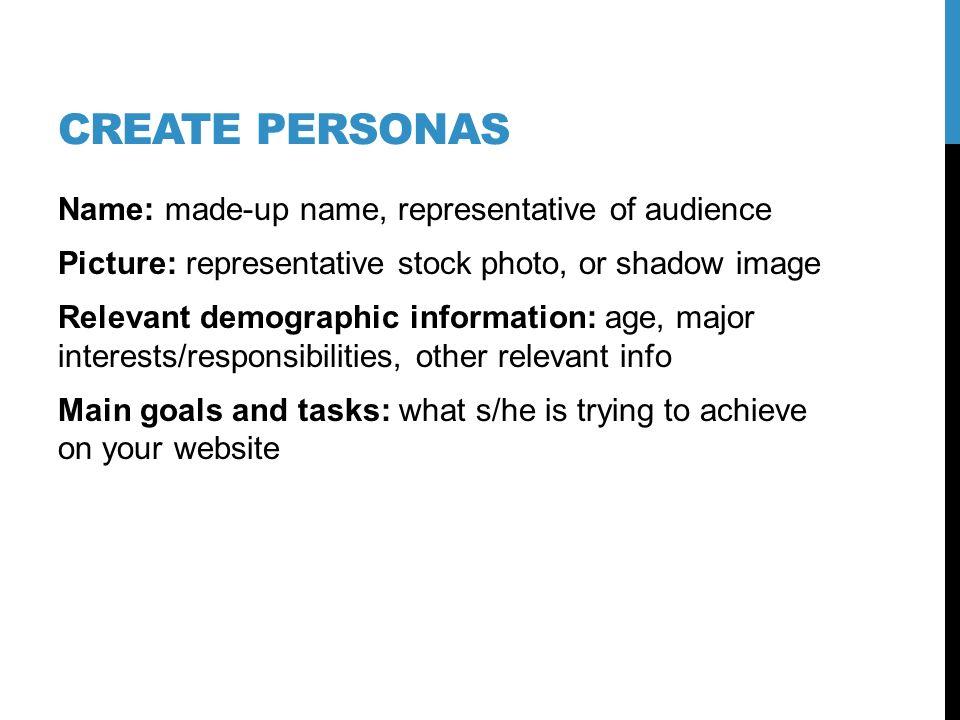 Identify target audiences