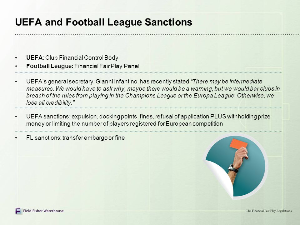 UEFA and Football League Sanctions