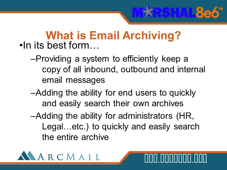 What is Email Archiving
